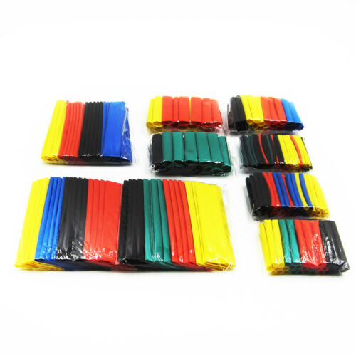 328Pcs Assorted Heat Shrink Tube 5 Colors 8 Size Tubing Wrap Wire Assortment ATF