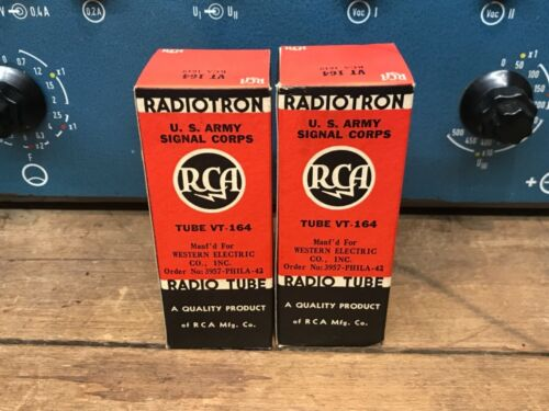 substitute for 45 and 6L6 2 one pair RCA 1619//VT164,NOS 100/% milspec tubes