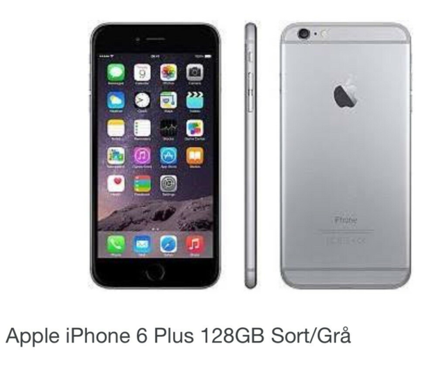 iPhone 6 Plus, 128 GB, aluminium, God, Som ny - har ikke…