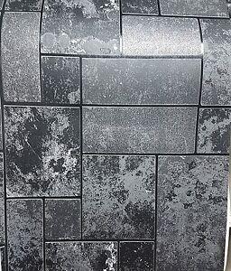 Image Is Loading As 34779 3 Black Glitter Tile Slate Stone