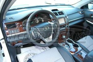 2012 2013 2014 toyota camry l le se xle hybrid interior wood dash trim kit set ebay. Black Bedroom Furniture Sets. Home Design Ideas