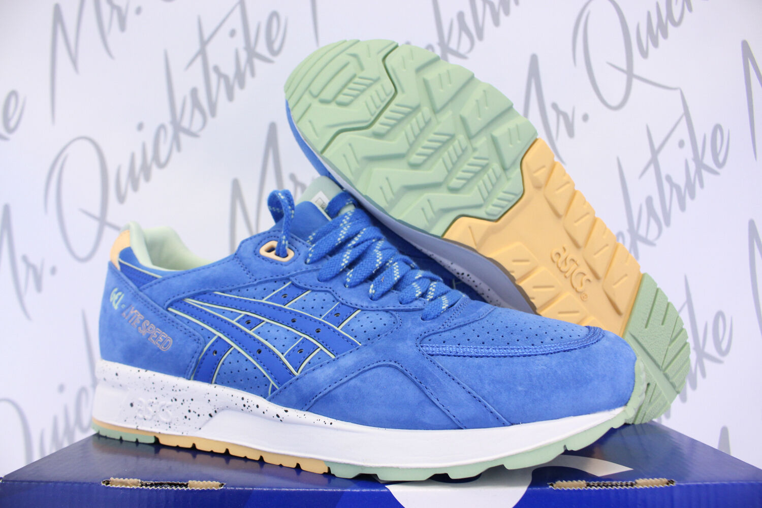 ASICS GEL LYTE SPEED SZ 8 CLASSIC BLUE EASTER PACK H615L 4242
