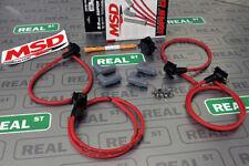 Msd Universal 4 Cylinder 85mm Spark Plug Wires Set Super Conductor Red 31689