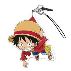 Tsumamare Cospa Pinch Rubber Phone Strap Mascot One Piece Luffy Hall Cake Island Ver