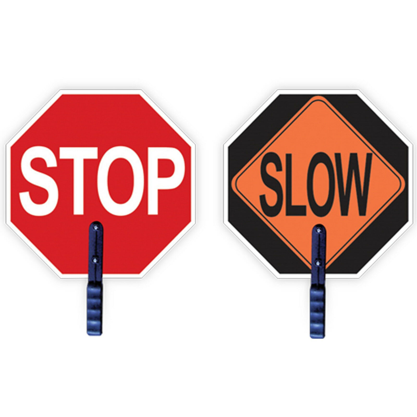 Paquete De 10-Hand Held Stop   lenta signo 18 pulgadas de diámetro construir centros educativos de seguridad