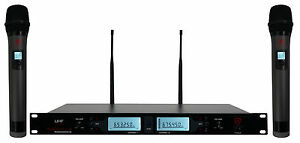 Rockville-RWM3200UA-200-Channel-UHF-Wireless-Dual-HandHeld-Microphone-System