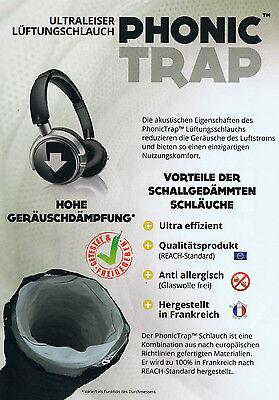 10m Phonictrap ø102-315mm Ultraleise Phonic Trap Sonodec Lüftungsschlauch Grow
