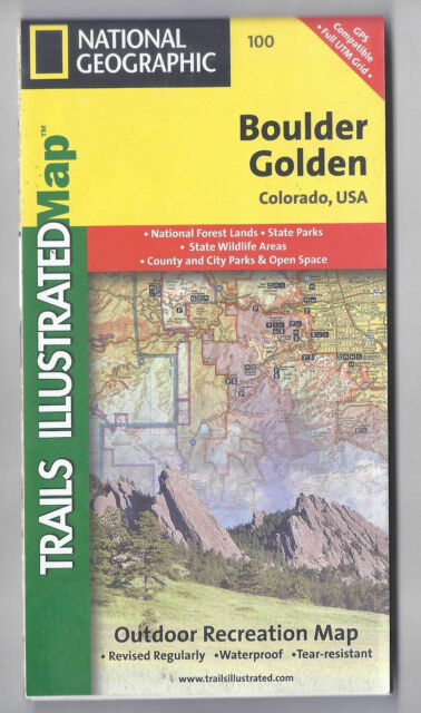 boulder golden national geographic trails illustrated map