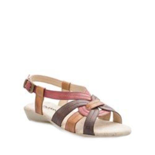 damen Padders Pandora Leather Sandals Casual Flat Beach Comfort schuhe UK 3 - 8