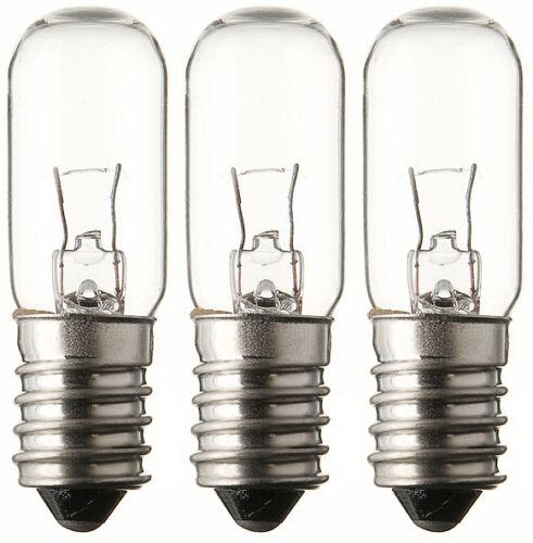 3x Glühlampe Glühbirne Lampe Röhre Spezial Ersatz Fassung E14 24V 2W 275415
