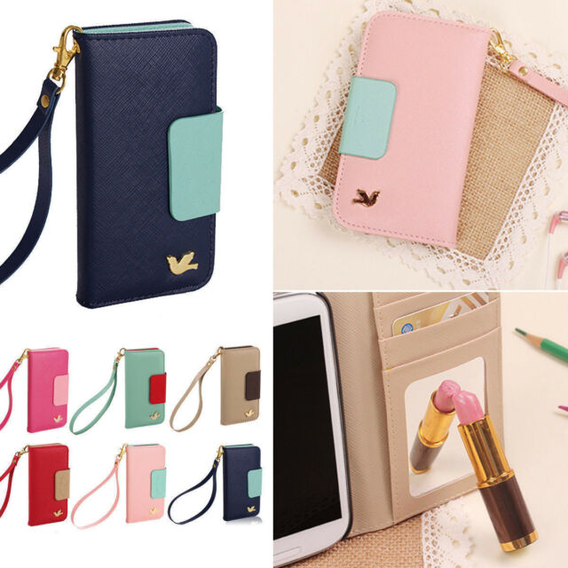new PU leather phone case cover wallet card holder pouch flip for iPhone/Galaxy