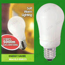 6x 11W Bianco Caldo Risparmio Energetico Basso Consumo Energetico CFL Mini GLS
