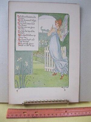 Vintage Print,ROSAMOND,Walter Crane,1899,Harper Bros,Floral Fantasy