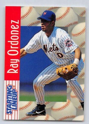1997  RAY ORDONEZ NEW YORK METS SLU Starting Lineup Card