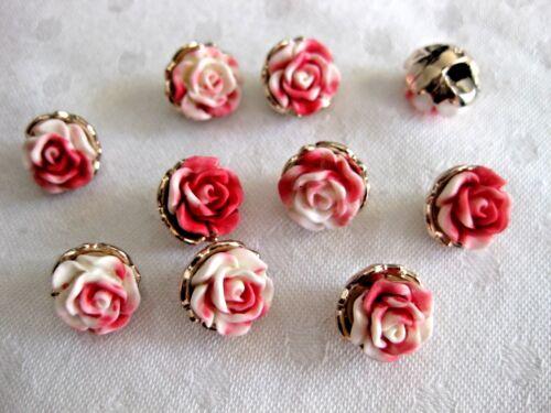 deux tons 10 JOLIES ROSES-boutons environ 11 mm k69 différentes couleurs couleur au choix