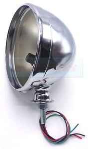 LOTUS-CATERHAM-7-034-INCH-CHROME-HEADLIGHT-HEADLAMP-SHELL-BOWL-CLASSIC-CAR-KIT-CAR