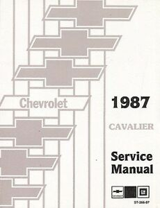 1987 chevrolet cavalier shop service repair manual engine Chevrolet Cavalier Z24 2003 Chevy Cavalier