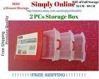 2 PCs of NEW Mini Storage Cabinet 3 Drawers Plastic Office School Box