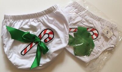 Apprehensive New! Baby Diaper Cover Bloomers Candy Cane Red Green White Sz S Small Delicacies Loved By All
