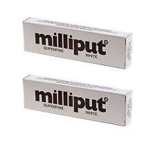 2 X Milliput Superfine 2 Part Self Hardening Epoxy Putty White DIY   113g /  4oz