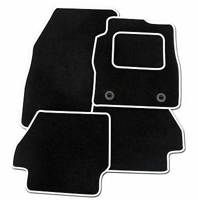 Ford KA 2013 Onwards TAILORED CAR FLOOR MATS BLACK WITH WHITE TRIM