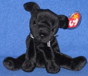 TY LUKE the BLACK LAB BEANIE BABY - MINT with TAG - SEE PICS ... dd37e4e5dbc