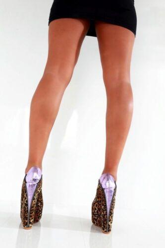 Uk4 Heels Cd Pleaser High Leopard Wedges Eu38 Shoes Zip Fetish 5 4 Sexy Giaro qBSxt6waRt