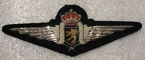 Belgium Pilot Wing NCO Embroided ( Silver Color )