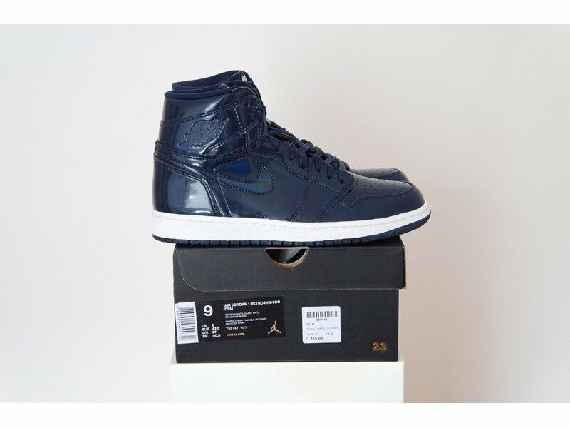 Nike Air Jordan 1 X DSM Dover Street Market-Obsidienne/Blanc Pas YEEZY Retro-