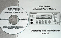 Giga-tronics 8541 8542 Power Meter Ops-service Manual