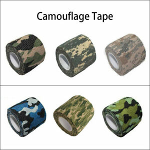 Camo-Tape-Adhesive-Camouflage-Stealth-Rifle-Gun-Wrap-Hunting-Stealth-Re-Useable