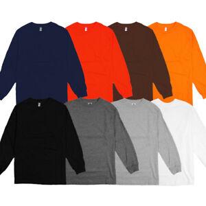 c368020862d9 AlStyle Apparel AAA Plain Blank Men's Long Sleeve T-Shirt Style 1304 ...