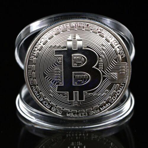 Plated Silver Bitcoin Coin Collectible BTC Coin Art Collection Gift Physical
