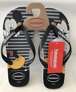 d4e7d06efffc0 Disney Havaianas Flip Flops Sandals NEW Mickey Mouse Black Mens Size ...