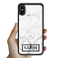 miniatura 10 - For iPhone 12 Pro Max 11 XS Case Marble IV Personalised Text Initial Custom Name
