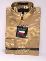 Boys' Satin Dress Shirt Solid Taupe Daniel Ellissa 100% Polyester Sizes 4 & 6