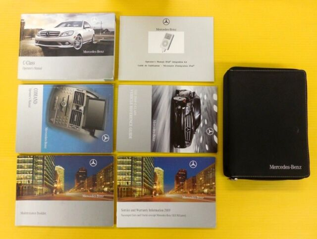 C-Class 09 2009 Mercedes-Benz Owner Owner's Manual Set COMAND Navigation Nav | eBay