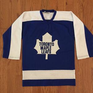 Vtg 80s Toronto Maple Leafs Jersey M Pedersons Stitched Blue Canada ... b438b8a97