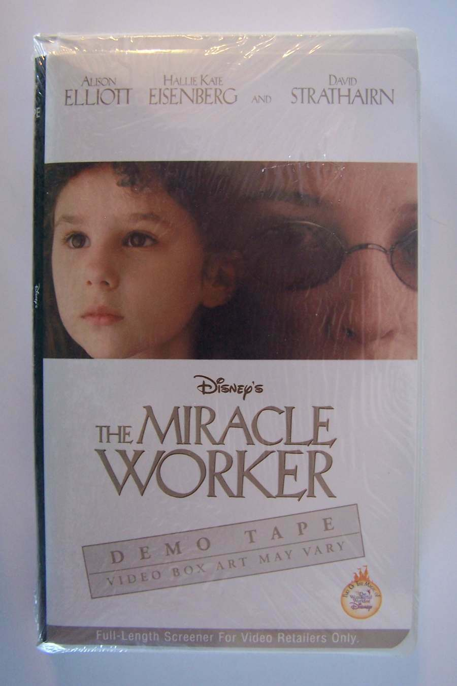 Disney's The Miracle Worker VHS PROMO Screeing Video Ta