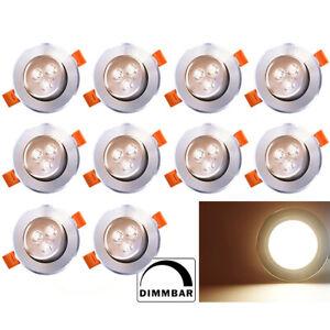 LED Einbaustrahler Spot 12V Einbauleuchte Deckenleuchte Einbau Strahler Dimmbar