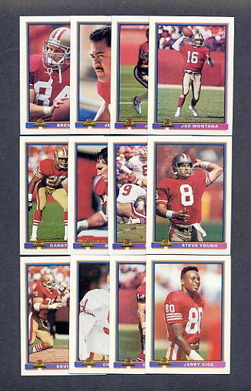 1991 Bowman San Francisco 49ers TEAM SET