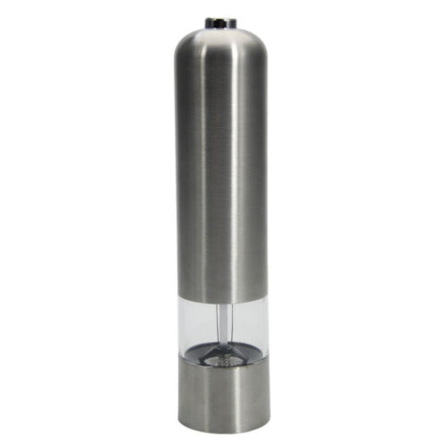 Stainless Steel Electric Salt And Pepper Spice Mill Grinder Battery Operated USA