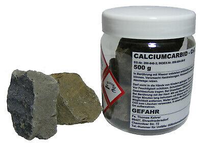 500 g Karbid 50-80 mm Calciumcarbid für Gas Entwickler Acetylen Karbit Carbid