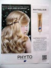 PUBLICITE-ADVERTISING :  PHYTO Phytoelixir  2016 Crème de soin cheveux