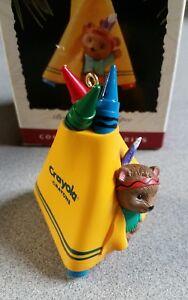 Crayola-Crayon-Bright-amp-Sunny-Tepee-Hallmark-Keepsake-Christmas-Ornament-1995
