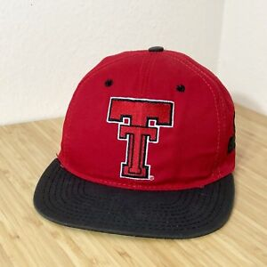 new arrival 7773a b35cd ... spain image is loading vintage texas tech red raiders hat cap 6 99590  6f4eb ...