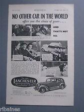 R&L Ex-Mag Advert: Lanchester Roadrider Six Light Sports Saloon Car