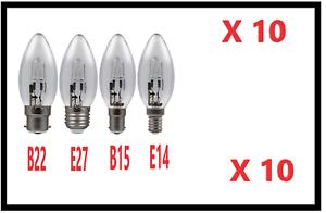 10-X-Eveready-Eco-De-Ahorro-De-Energia-Bombillas-Vela-E14-B22-E27-B15-20w-30w-46w