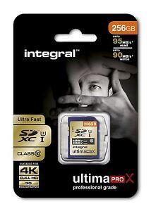 integral-256GB-SDXC-Classe-10-UHS-I-U3-r95mb-S-w90mb-S-CARTE-pour-COMPLET-HD-4K