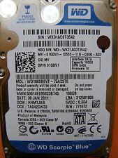 160 GB Western Digital WD1600BEVT-75A23T0 / HHMTJAB / 2060-771672-004 REV A